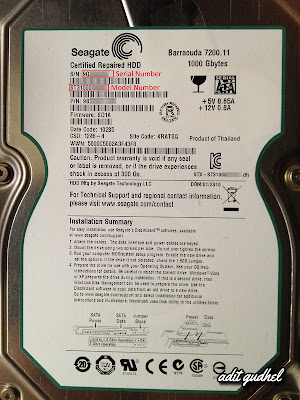 Serial Number dan Model Number Harddisk Seagate