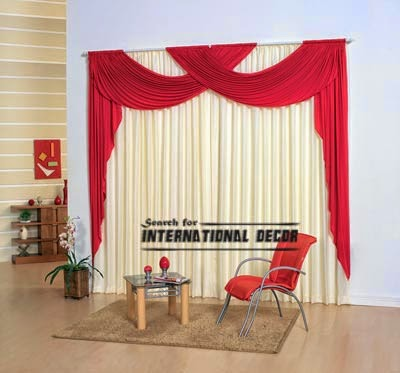 curtain designs, unique curtains,red curtains, window decorations
