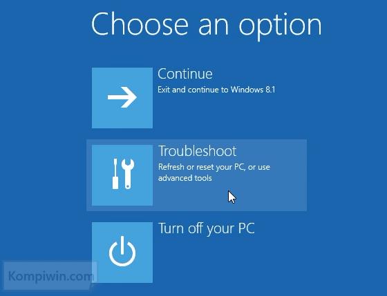 3 Cara Mengakses 'Advanced Boot Option Menu' di Windows 8 dan Windows 8.1 3