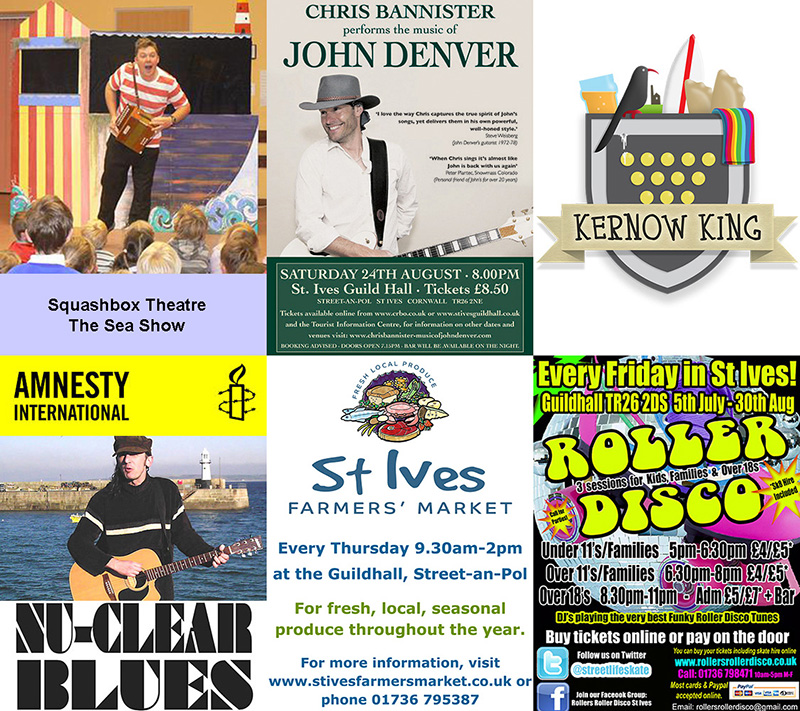 St Ives Guildhall - August Events