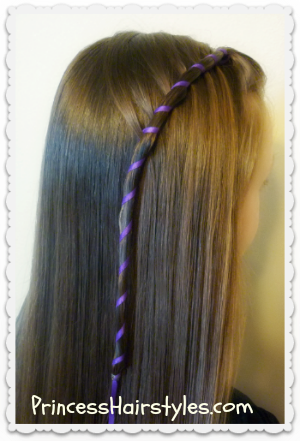 Candy stripe waterfall braid, easy tutorial
