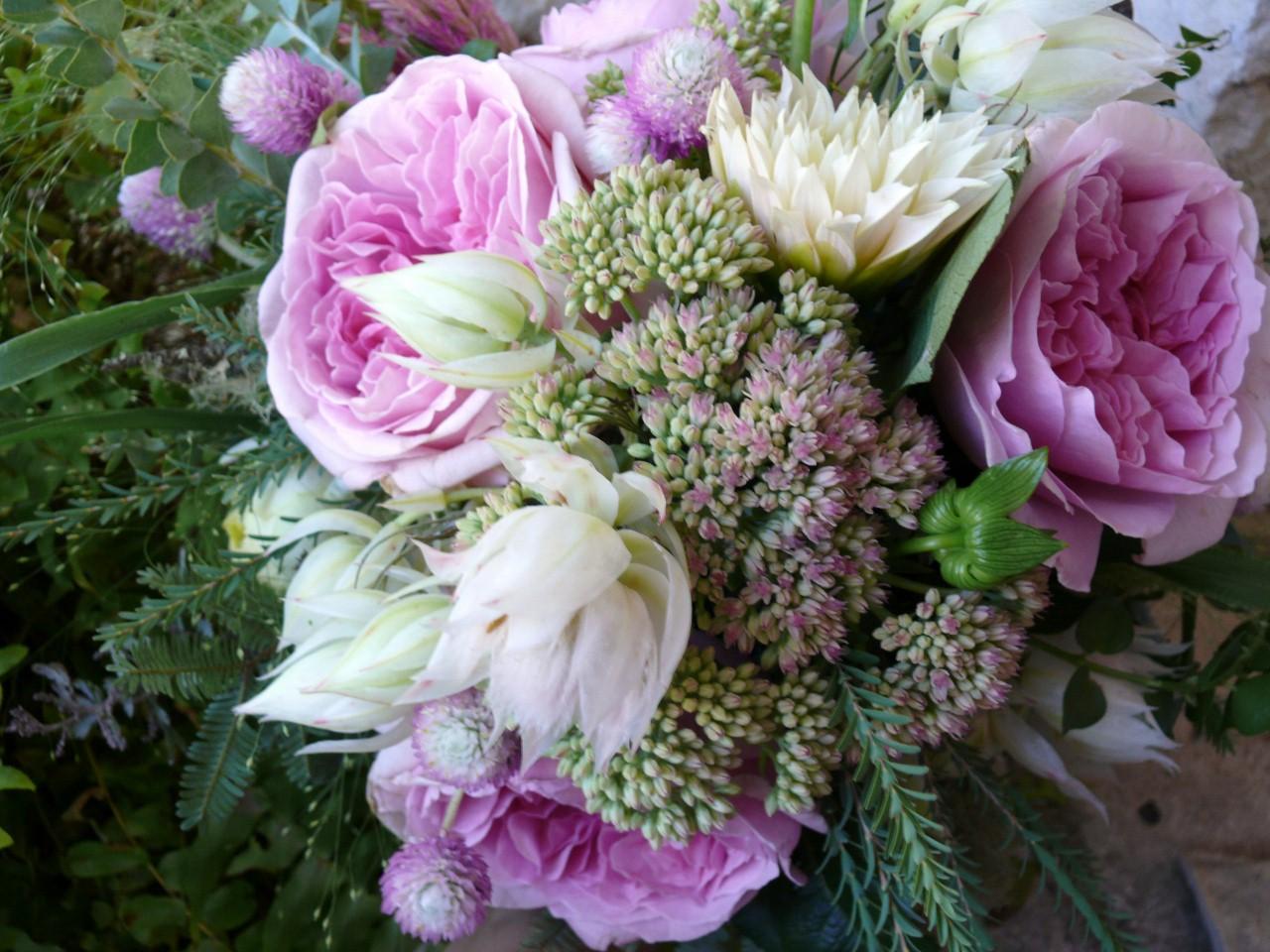 Bridal Bouquet Garden Roses : La fleur vintage woodland garden rose bridal bouquet