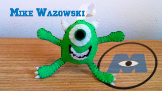 How to Make Mike Wazowski from Monsters Inc. Plushie tutorial