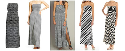 H&M Strapless Maxi Dress $10.00 (regular $24.95)  Merona Maxi Dress $20.98 (regular $29.99)  O'Neill Marley Maxi Dress $29.75 (regular $59.50)  Apt 9 Empire Strapless Maxi Dress $30.00 (regular $50.00)  Star Vixen Strapless Maxi Dress $36.00 (regular $56.00)