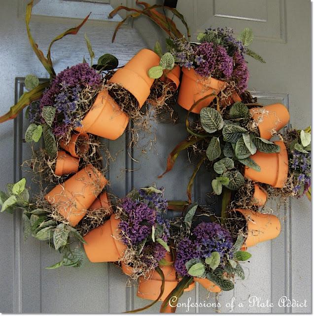 diy flower pot wreath