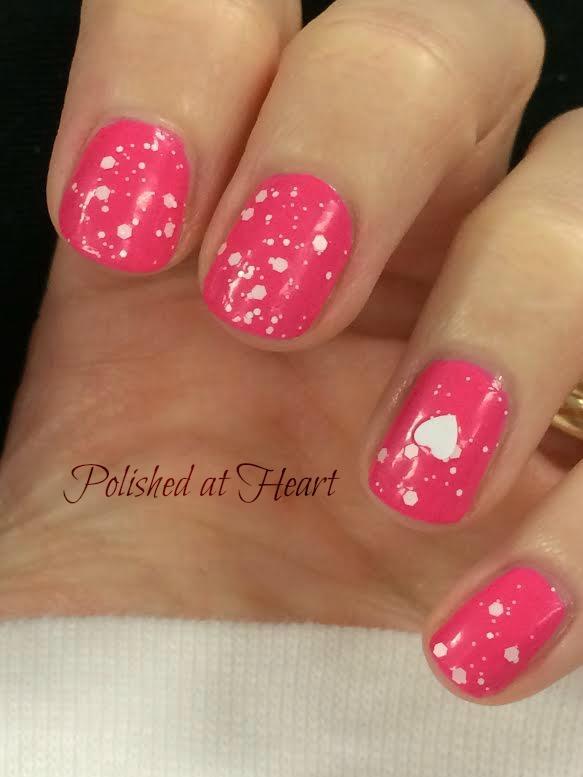 heart glitter polish
