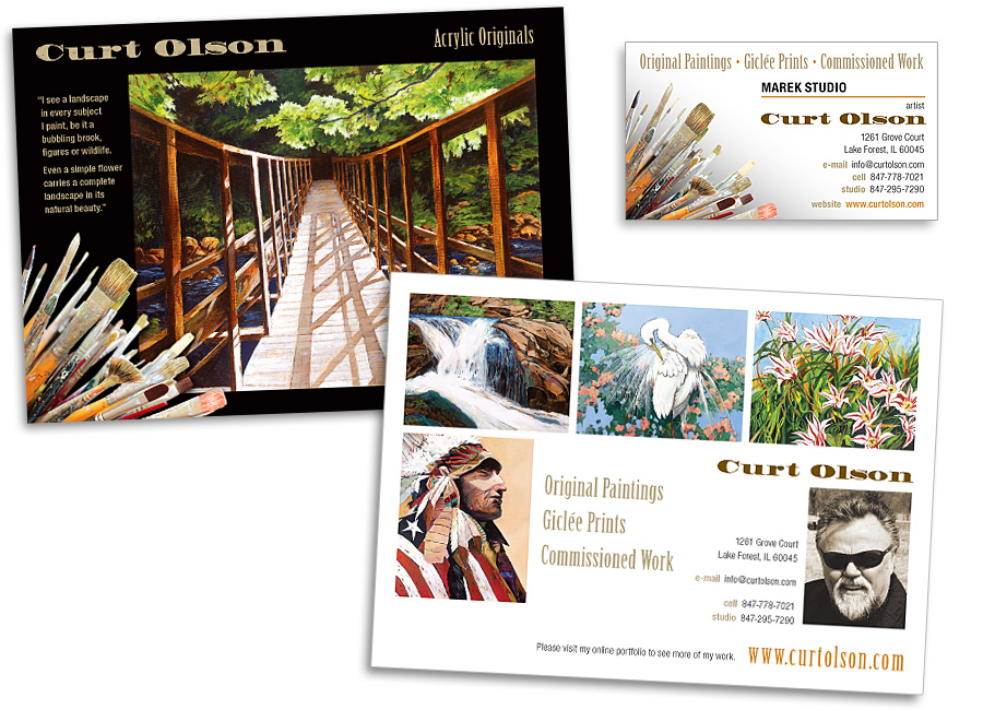 Kirk Lyman's Blog: Promotional Post Card and Business Card