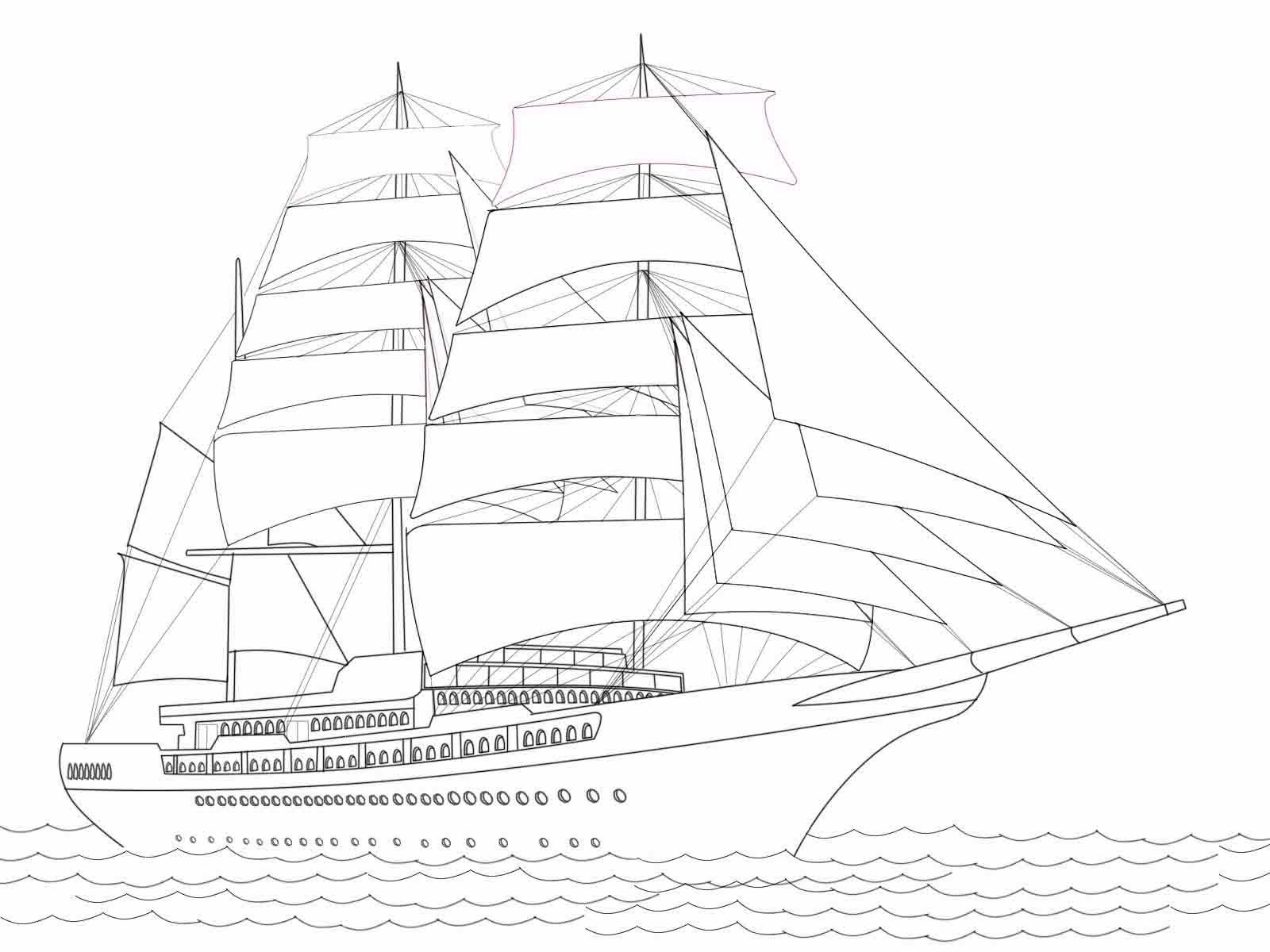 Mewarnai Kapal Layar Untuk Anak Anak