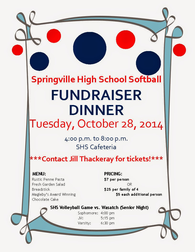 Calendar April Java : Springville high school softball fundraiser tuesday