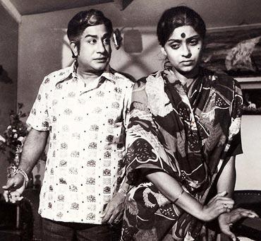 Shivaji Ganesan & Sujatha in 'Andhamaan Kathali' Movie