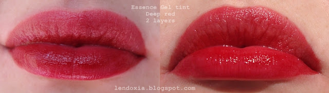 two layers of lip stain
