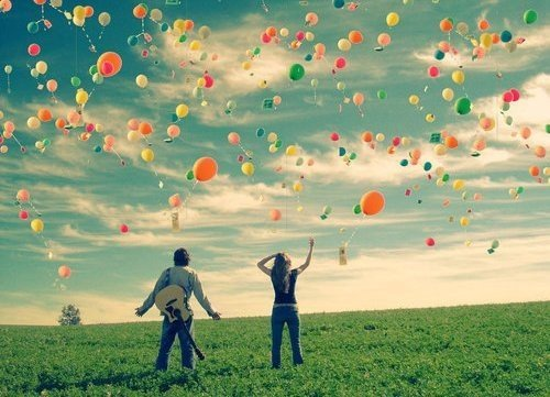Many Beautiful Balloons In The Sky : ballons_campo_vintage_balloon_sky_balloons_balloon ...