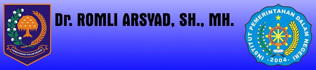 Romli Arsyad Blog
