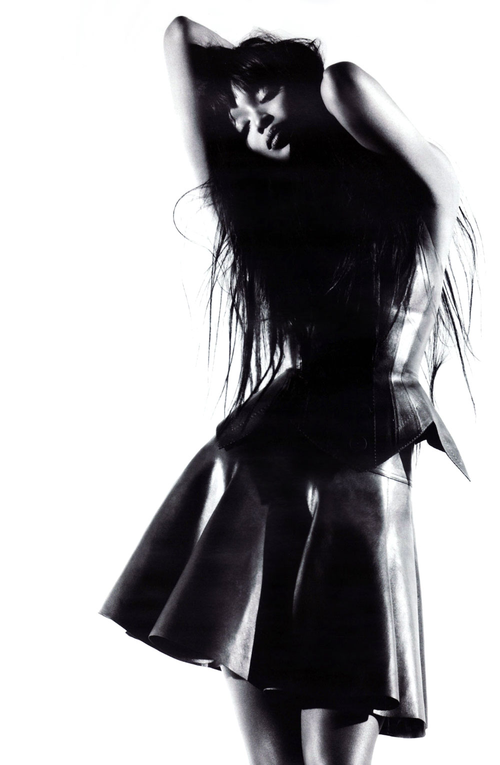 Naomi Campbell wearing Azzedine Alaia in Vogue Russia April 2010 (photography: Willy Vanderperre, styling: Edward Enninful)