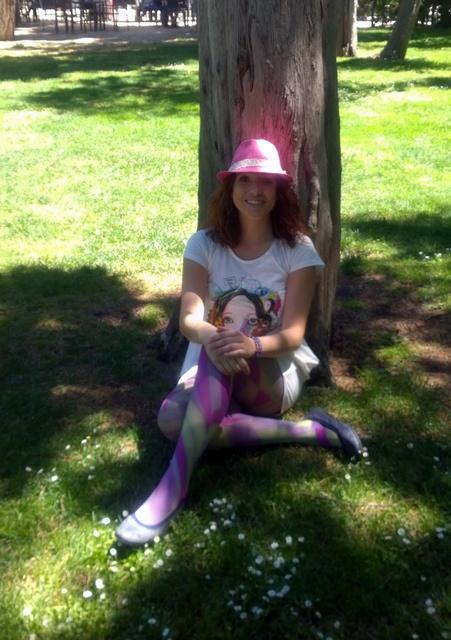 outfit en rosa y malva