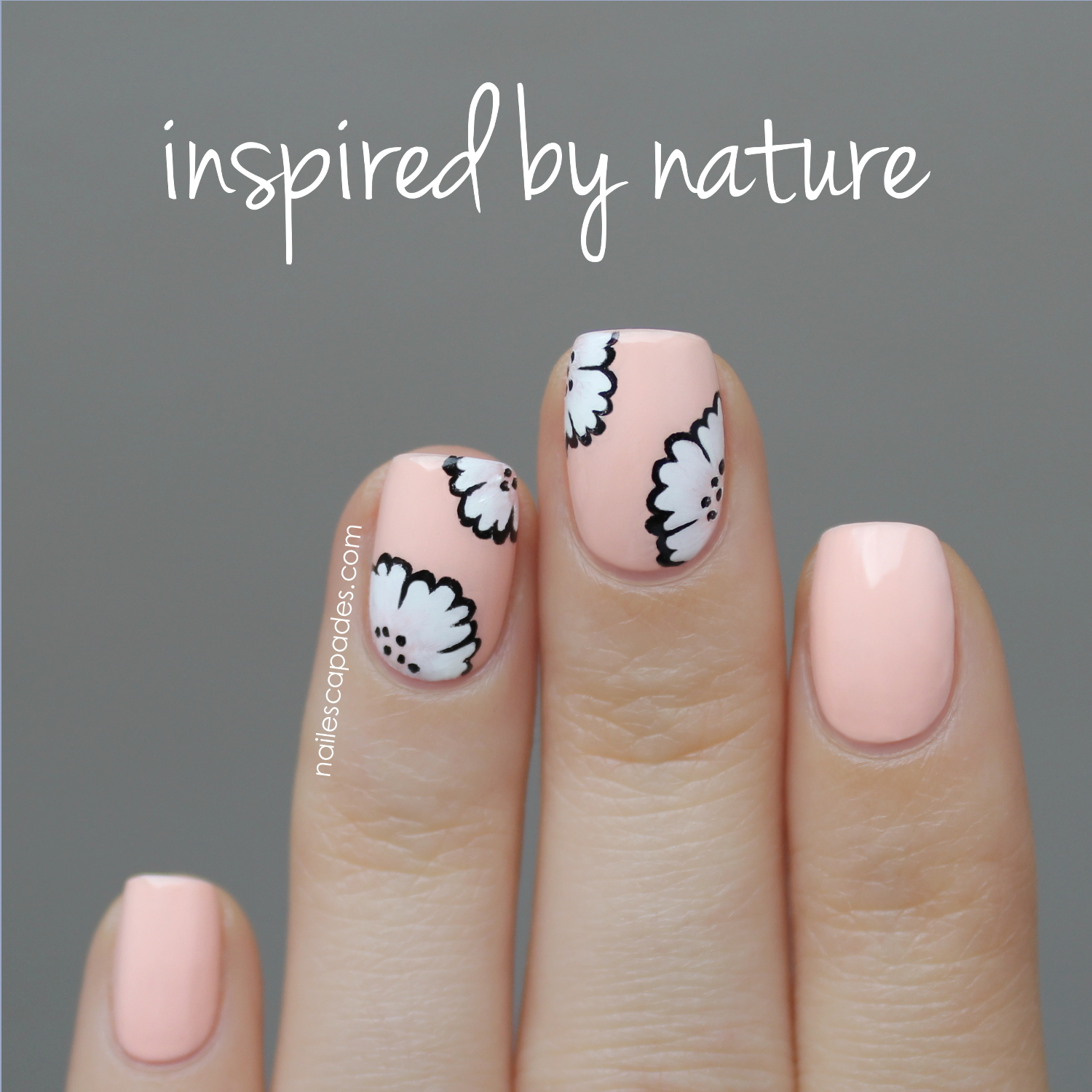 Nail escapades polishers inc inspired by nature floral nail art this adorable nail polish is from kiko in the number 507 blush two coats good coverage beautiful shine and only 190 euros having pretty polished nails prinsesfo Choice Image