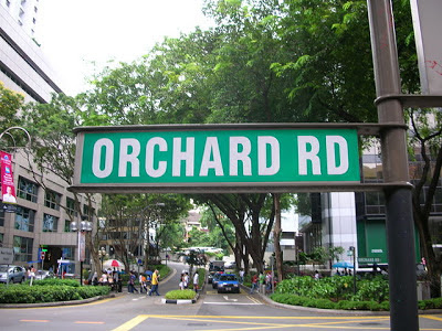 penunjuk jalan, jalan ochard, singapore, singapura, tempat belanja