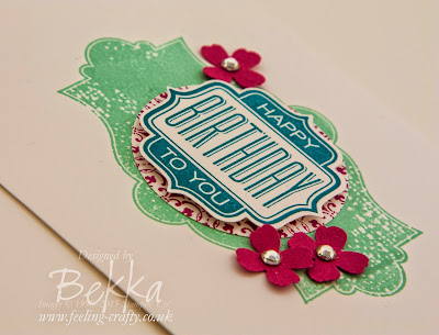 Adorable Birthday Card using Stampin' Up! UK supplies - get them here