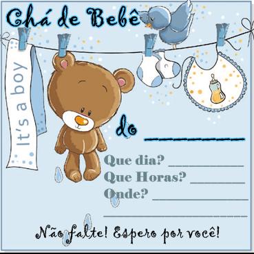 Convites para chá de bebê de menino 12