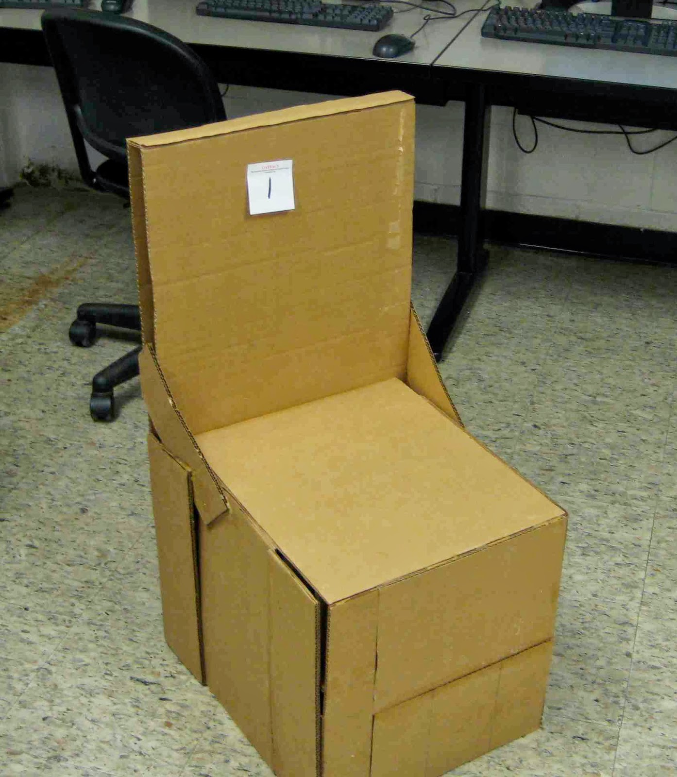 Cardboard chair design no glue - Cardboard Chair Blog 1