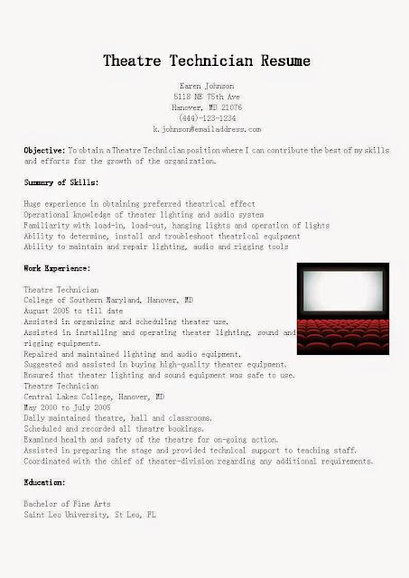 Build theatre resume