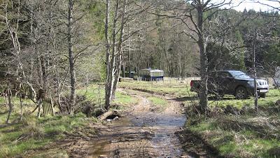 Walking across the Lorn Burn, Deeside