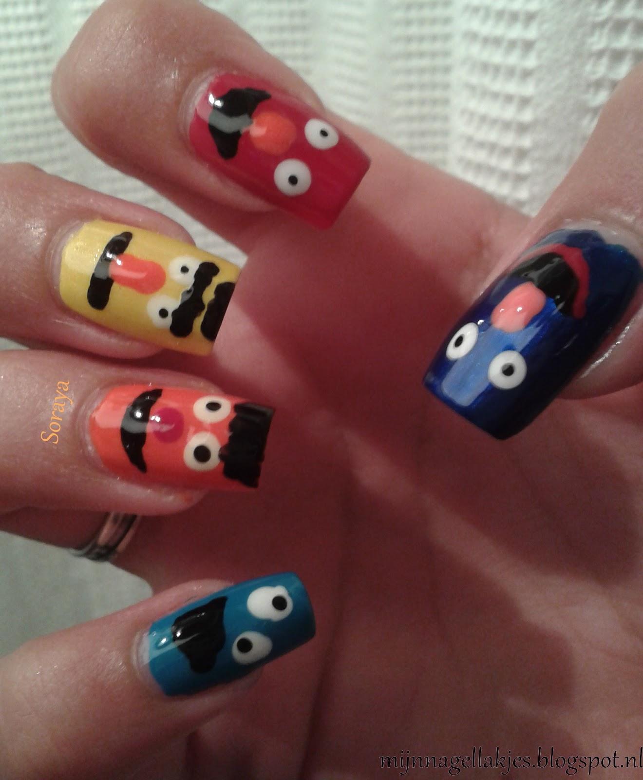 Mijn Nagellakjes Sesamstraat Nail Art