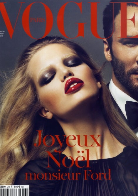 Daphne Groeneveld and Tom Ford on Vogue Paris Cover