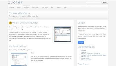Cyotek WebCopy, Miscellaneous Developer Tool
