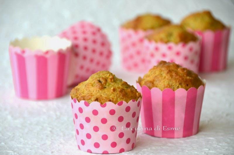 muffin salati al pesto di pistacchio