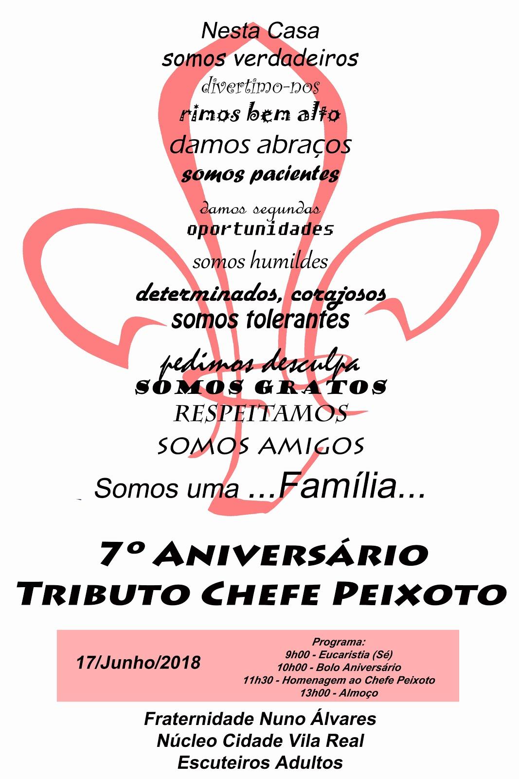 7º ANINUC/TRIBUTO CHEFE PEIXOTO