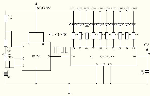Secuenciador de agujero CD4017