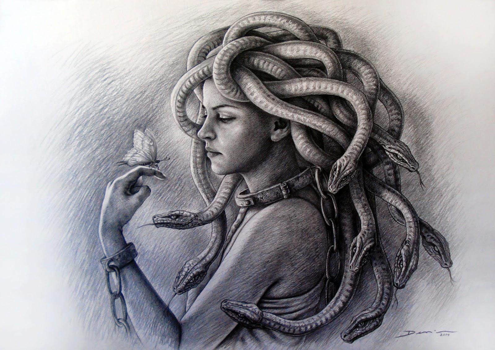 retrato-de-mujer-con-serpientes