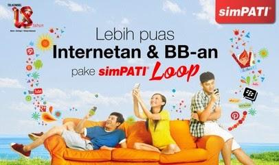 Paket bb simpati loop