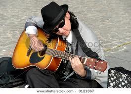 street singer in Paris, France