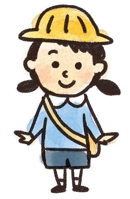 幼稚園生の女の子のイラスト ゆるかわいい無料イラスト素材集