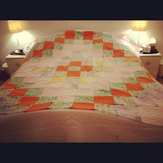 easy, patchwork, quilt, duvet, topper,