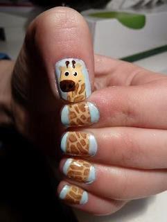 little black cherry how to create giraffe nails