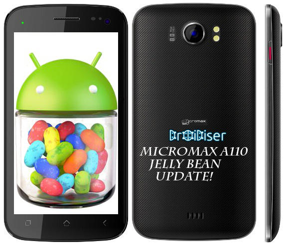 Different methods to update Micromax A110 to official Jelly Bean: