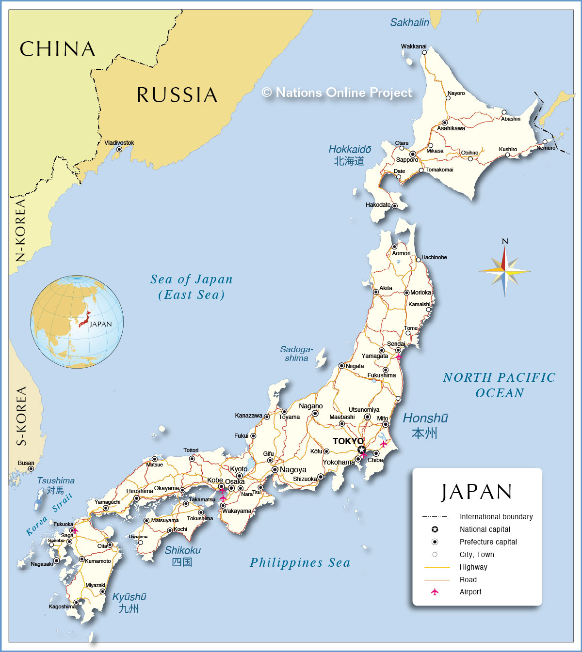 Lets Nailed The World Japan Land Of The Rising Sun - Japan map 2015