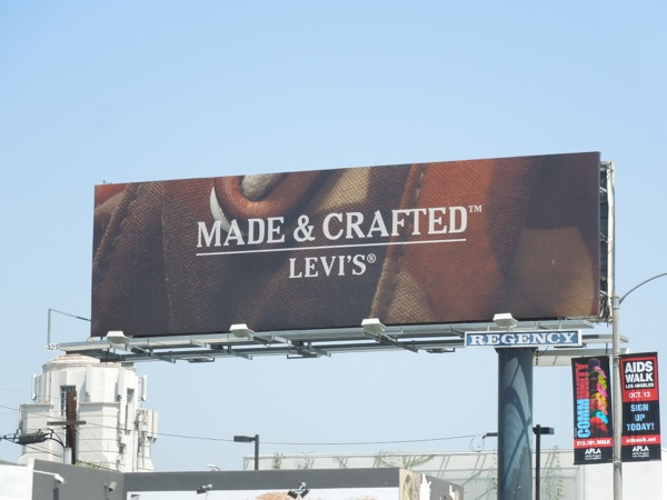 Made Crafted Levis billboard