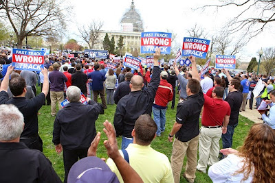 The Teamsters have made it clear they are against fast track.