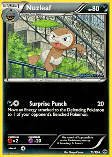 Nuzleaf Pokemon Card Next Destinies Set