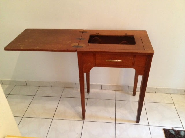 Vintage Wood Sewing Table Makeover Anniescupboards