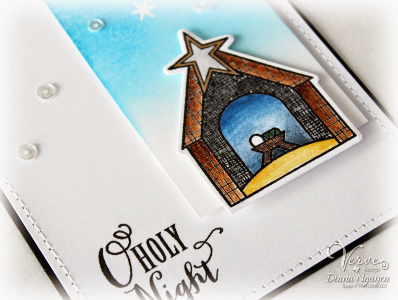 Diana Nguyen, Verve, Weary World, manger, christmas, card