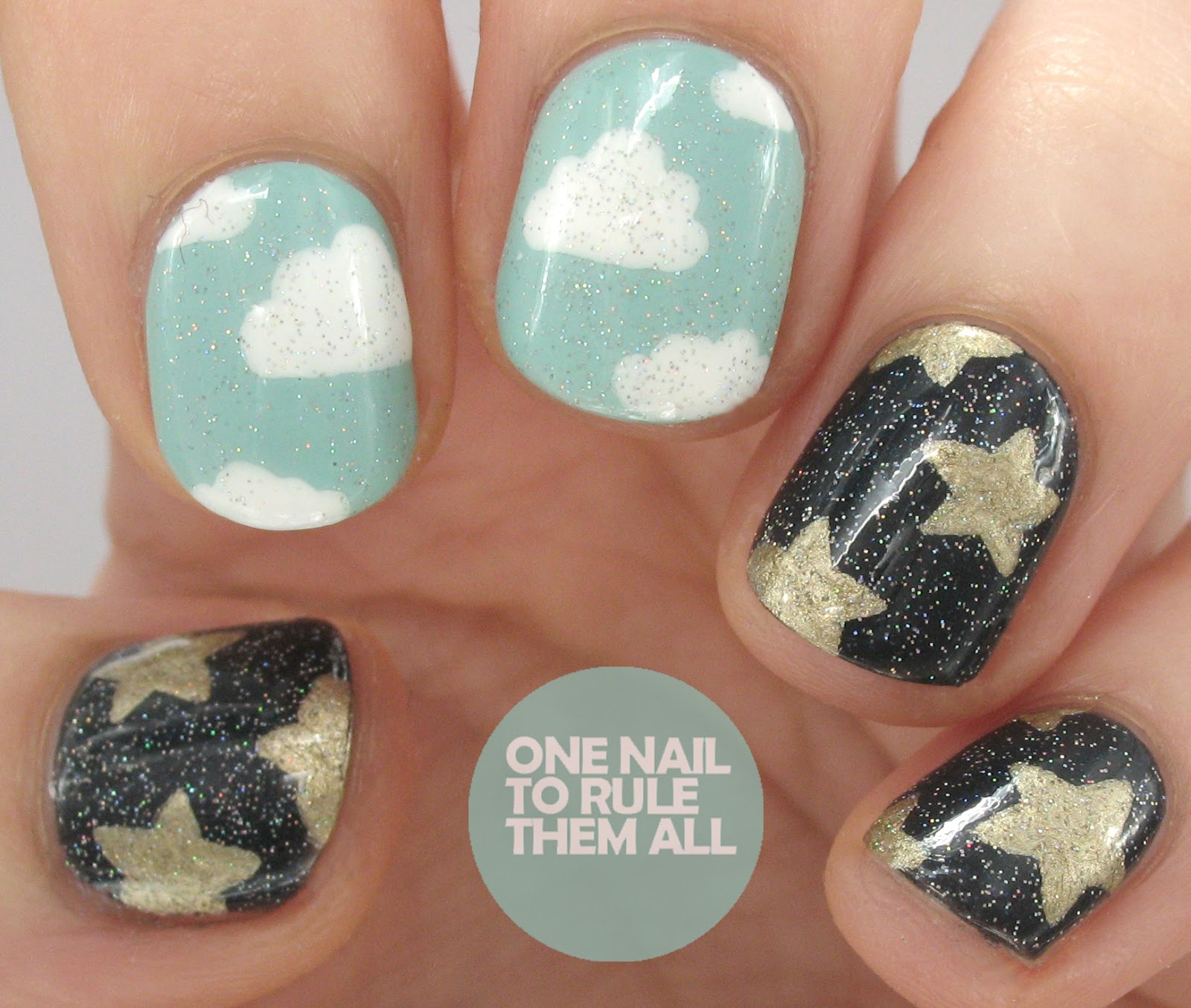 One Nail To Rule Them All Hugs For Emily Clouds And Stars