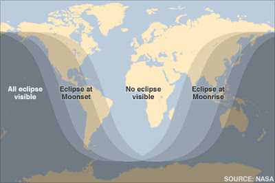 lunar eclipse map, NASA