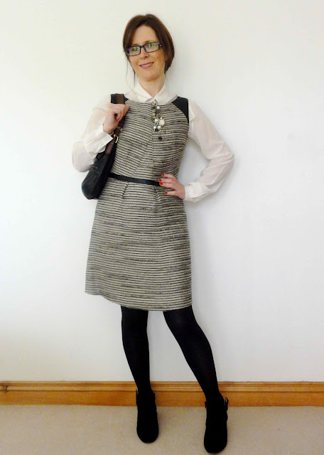 M%2526S+Tweed+Dress5 One M&S Party Dress   Three Ways!