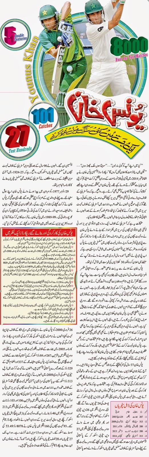 Younus Khan Cricketer Biography in Urdu
