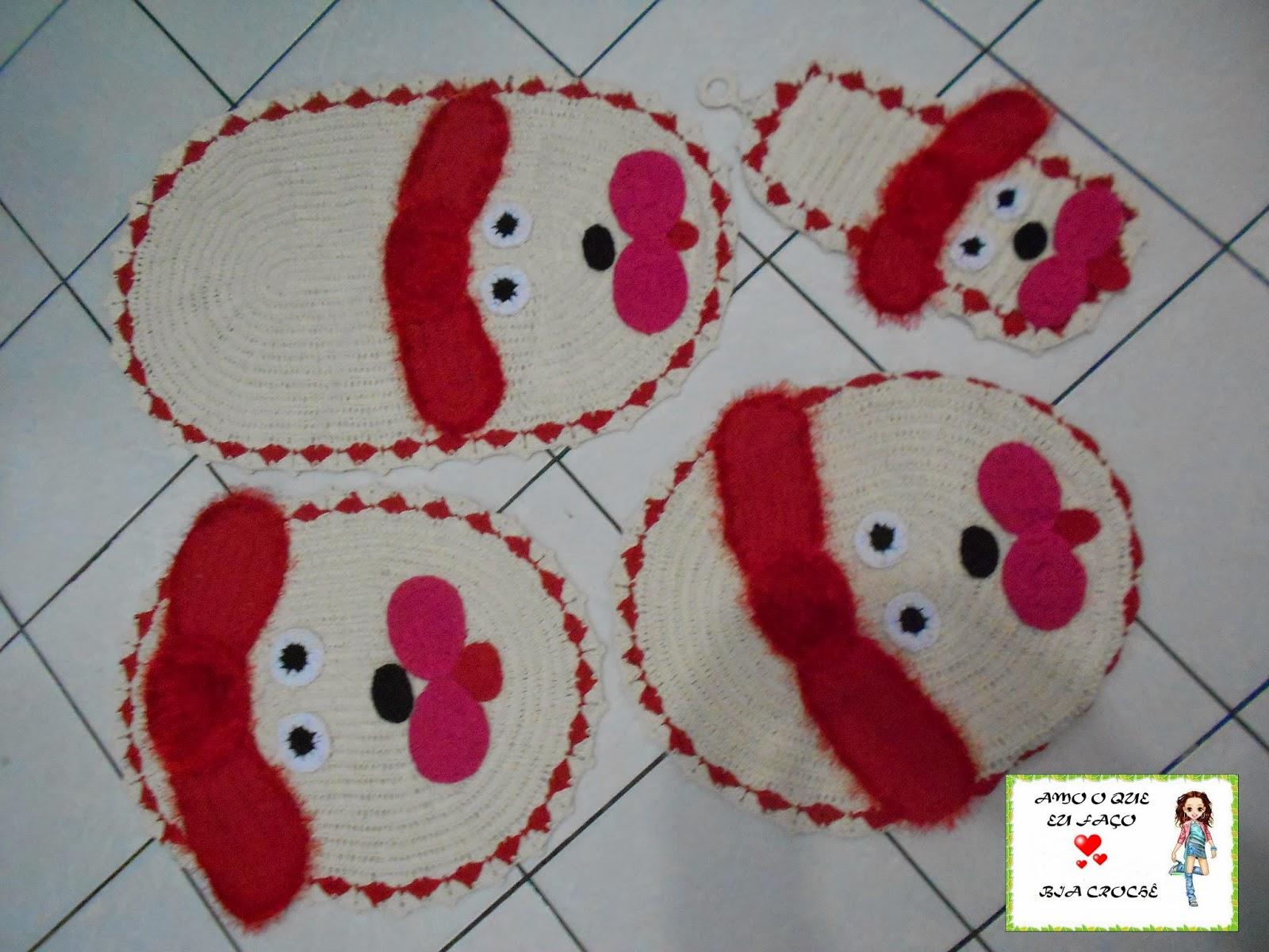 Trabalhos de Crochê: JOGO DE BANHEIRO DE CACHORRO #7D1022 1600x1200 Banheiro De Cachorro Funciona